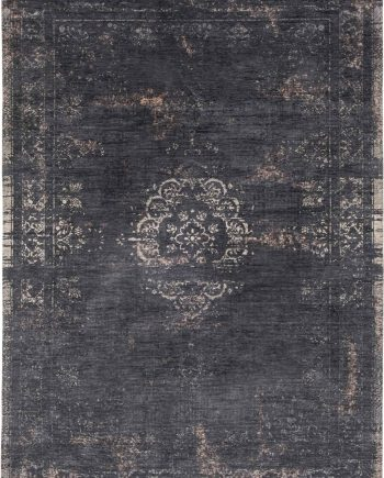 tapis Louis De Poortere LX8263 Fading World Medaillon Mineral Black
